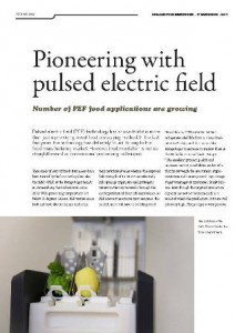 Pioneering with pulsed electric field