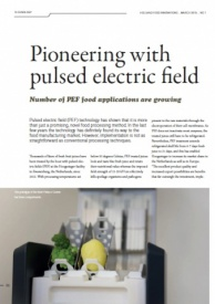 Pioneering with pulsed electric field, Holland Food Innovations