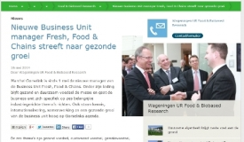 Nieuwe Business Unit manager Fresh, Food and Chains streeft naar gezonde groei